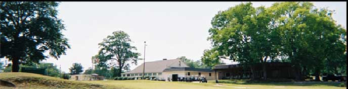 Panorama photo of the grounds and clubhouse